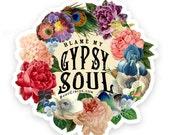 Boho Stickers, Boho Decal, Stickers, Gypsy Soul, Vinyl Sticker, Vinyl Decal