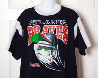 Vintage 90s ATLANTA BRAVES Baseball Tshirt - XL