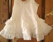 60s baby girls underslip petticoat with full frilly skirt