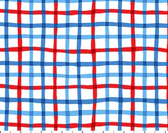Red & Blue Grids from Northcott Fabric's First Mate Collection by Deborah Edwards