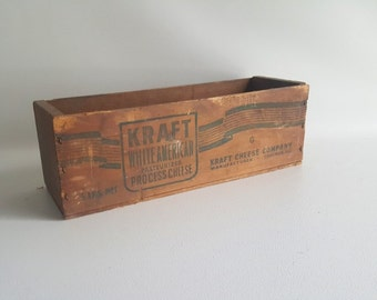 Old Wooden Box Home Storage Box Vintage Cheese Box Vintage Wooden Cheese Packing Crate Kraft Cheese Chicago Ill Shipping Box