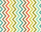 SHOP CLOSING SALE Michael Miller Fabric for quilt or craft Mini Chic Chevron in Retro Half yard