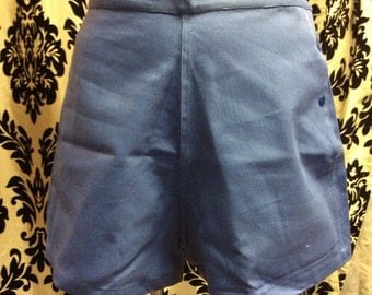 Baby Blue Button Up High Waisted Shorts-DEADSTOCK