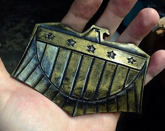 Leather Judge Dredd Inspired Belt Buckle
