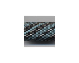 Woven Glass (Dread) Bead Tube ... ... ... ... ... 12mm/o-9mm/i ... ... ... ... ... ... ... 20x20 * 468