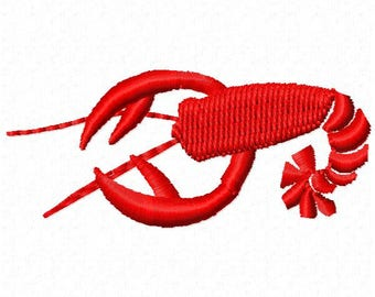 Lobster Machine Embroidery Design - Instant Download