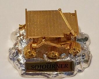 Jet Propulsion Laboratory JPL Sojourner Mars Rover 24K Gold Plated Model By Hot Wheels