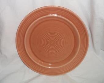 "Metlox COLORSTAX Apricot Dinner Plate 10 1/2"" USA California Pottery"
