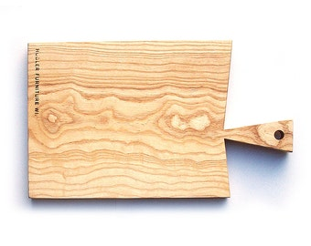 Curly Ash \ Wood \ Serving Platter \ Cutting Board \  Salvaged