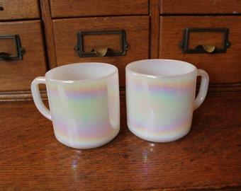 Federal Iridescent Mugs Set of 2