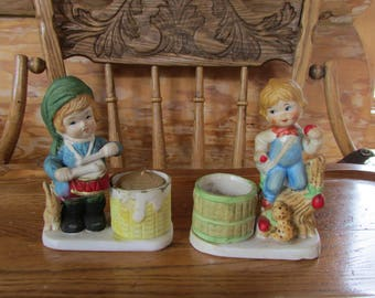 Little Luvkins Dummer Boy and Boy with Apples 1978 Jasco SALE