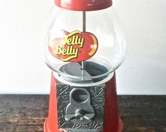 Jelly Belly Jellybean Dispenser with Glass Globe and Coin Slot