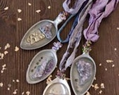 Reserved for Shell:Amethyst Spoon Necklaces from Spring 2017 GreenCraft issue from Stampington