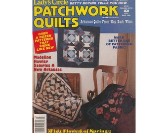 Vintage 1980s Quilting Magazine Ladys Circle Patchwork Quilts Magazine March 1988/Arkansas Quilts from Way Back When/First Flowers of Spring