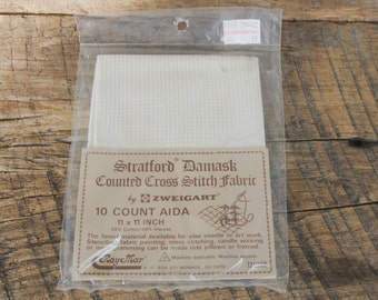 Stratford Damask Counted Cross Stitch Fabric 10 Count Aida