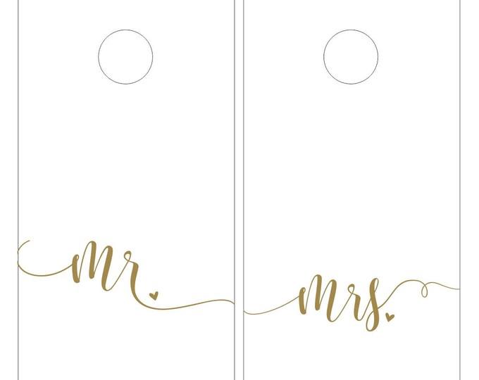 Mr and Mrs | Wedding Cornhole Decals | Corn hole Board Decals | Wedding Shower Games | Outdoor Wedding Decor | Rustic Wedding