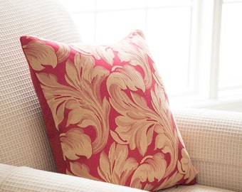 Baroque Scroll Pillow Cover - Valentines Day - Pillow Cover - Cranberry Red