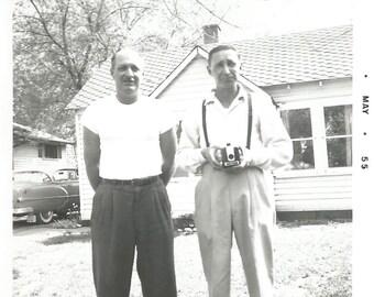 "Vintage Photo ""Brownie Hawkeye"" Kodak Camera Man Holding Camera Found Vernacular Photo"