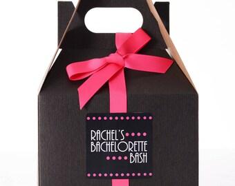 6 Bachelorette Survival Kit Box - Bachelorette Party Box - Bachelorette Party Favor Boxes