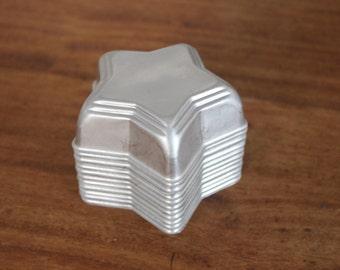 Vintage Small Aluminum Star Jello Molds Set of 11