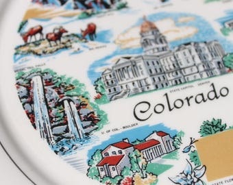 Colorado State Plate Souvenir plate Colorado Souvenir collector plate