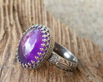 Sterling silver amethyst ring, Amethyst ring, Amethyst jewelry, Silver jewelry