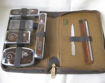 Vintage Men's Equestrian Horse Travel Kit