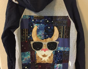 SALE Llama hoodie size medium