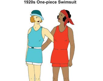 RH1249 — Mid-1920s Ladies' Knit Swimsuit in LARGER SIZES