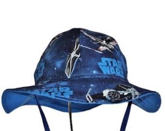 Star Wars Baby Sun Hat, Boy Or Girl Sun Hat, Summer Hat, Newborn Hat, Toddler Hat, Cotton Hat, Floppy Beach Hat, Baby Shower Made To Order