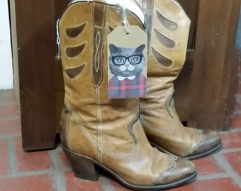 Vintage Ellie Nebuloni Cowgirl Boots Size 7.5