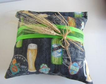 10 Inch Beer Hops Pillow,  Beer themed Pillow with Hops, Beer Lover Hops Pillow, Beer Sachet, Hops Aromatherapy Pillow, Beer Pillow
