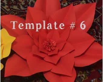 Huge paper flower template