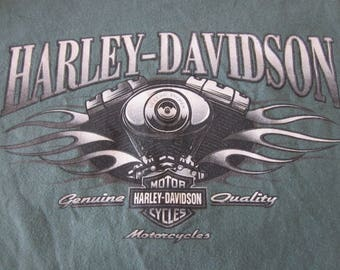 Vintage T-Shirt HARLEY-DAVIDSON motorcycles Texas store USA made sz L large