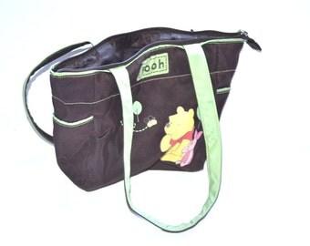Vintage  Winnie the pooh disney bag Piglet bees  bag 90s  travel baby Pooh  diaper bag   Organizer handbag belt bag  Unisex Gift