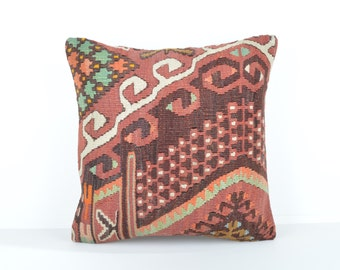 Kilim pillow cover, kp1743, Kilim Pillow, Turkish Pillow, Kilim Cushions, Kilim, Moroccan Pillow, Bohemian Pillow, Turkish Kilim