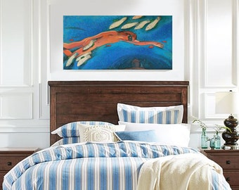 "Original Oil Painting ""Nothing but dream"" by B. Kravhenko, FREE SHIP"