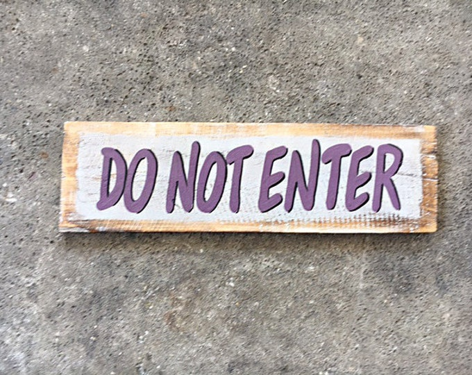 Beach decor, Do Not Enter sign, Nautical, Wooden Distressed by SEASTYLE