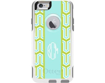 Custom Otterbox Commuter Case for iPhone 6 and iPhone 6s | Lime Cabana Custom Otterbox Phone Case
