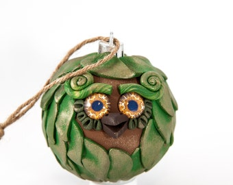 Oz - Polymer Clay Owl Ornament