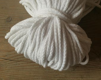 Cotton cord 5 mm / cotton rope for crochet / white cotton cord / thick cord for knitting / oversized knitting
