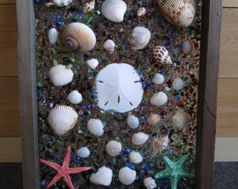 Beach Wall Window Art, collage, sea art