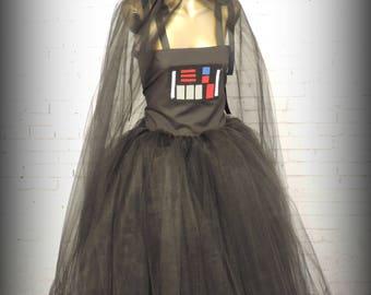 Girls Starwars costume starwars tutu dress darth vader tutu costume for girls halloween costume for girls cosplay comicon halloween costume