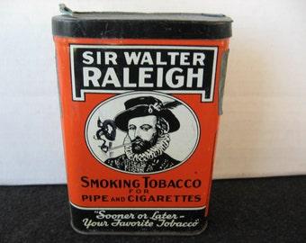 Vintage Sir Walter Raleigh Tobacco Pocket Tin