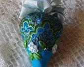 Emery Pincushion - Peacock Blue
