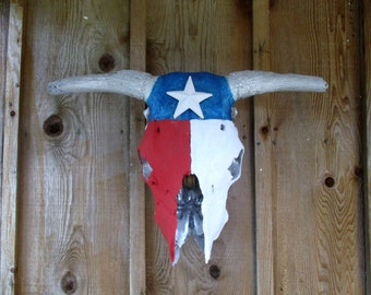 Texas cow skull painted skull original one of a kind hand painted cow skull
