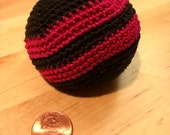 Colorful Rainbow HACKY SACK  Juggling ball Cat Toy Bean Bag Foot Bag Maroon Black