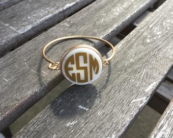 Personalized Monogrammed Stone Bracelet