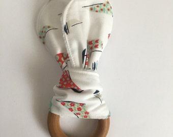 Girlie Sailboat Teething Toy