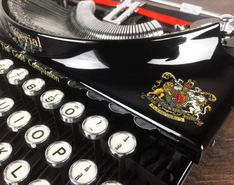 Vintage 1930s Imperial Portable Typewriter, Made in England, Excellent Condition